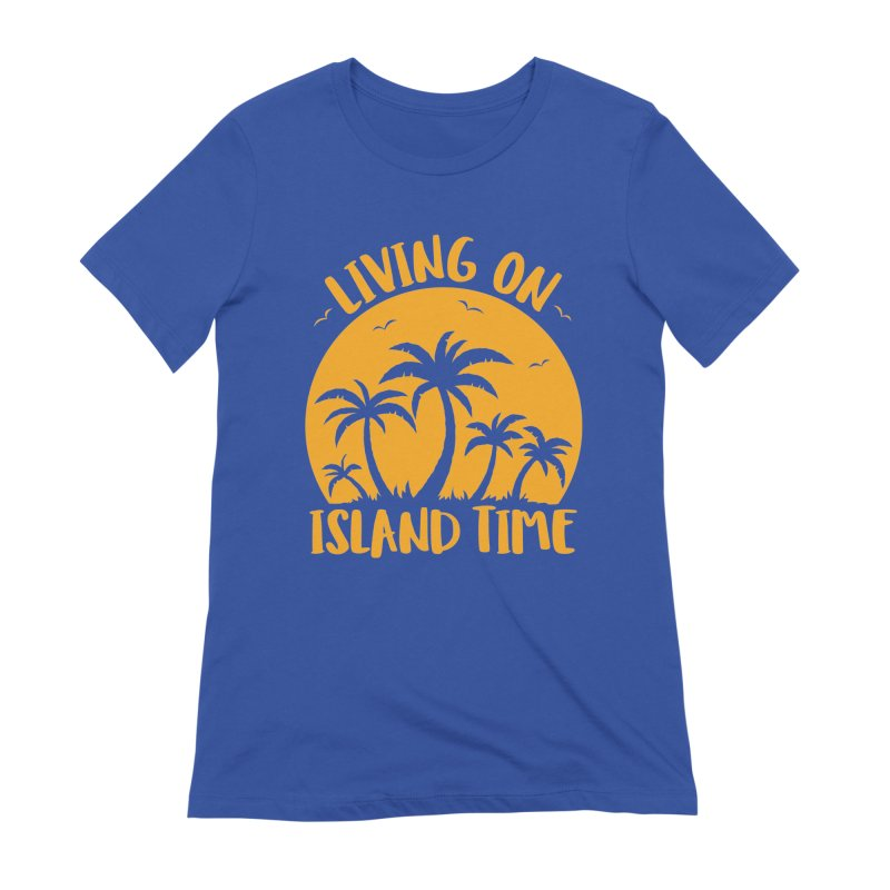 Living On Island Time Palm Trees And Sunset Women's Extra Soft T-Shirt by Fizzgig's Artist Shop