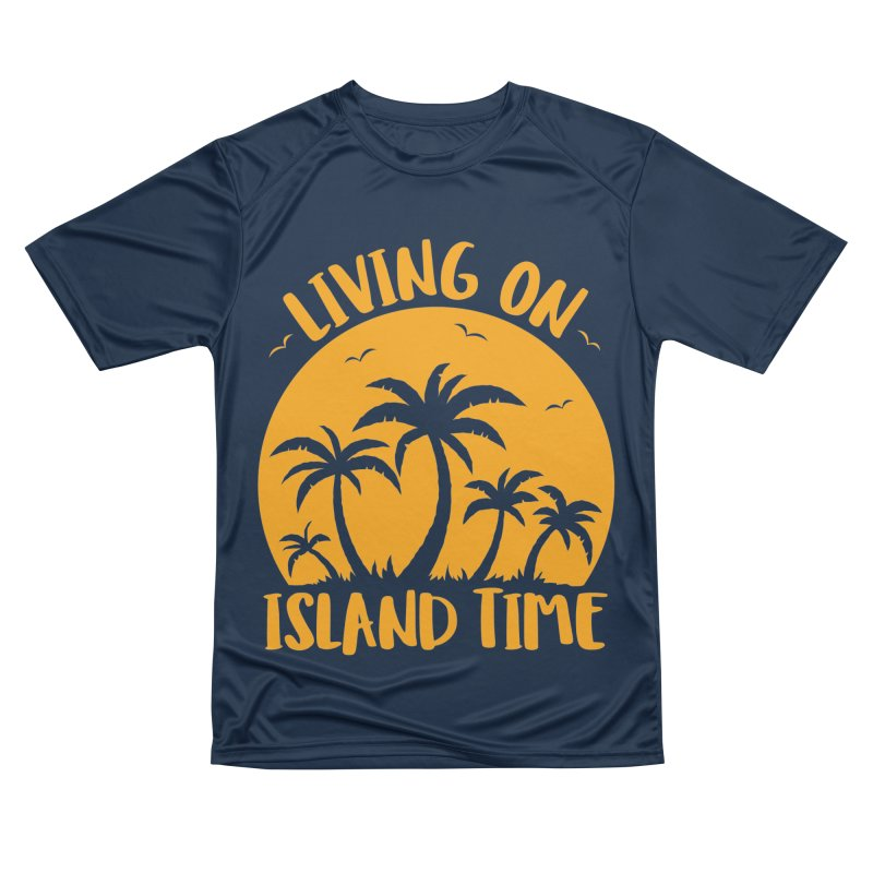 Living On Island Time Palm Trees And Sunset Men's Performance T-Shirt by Fizzgig's Artist Shop