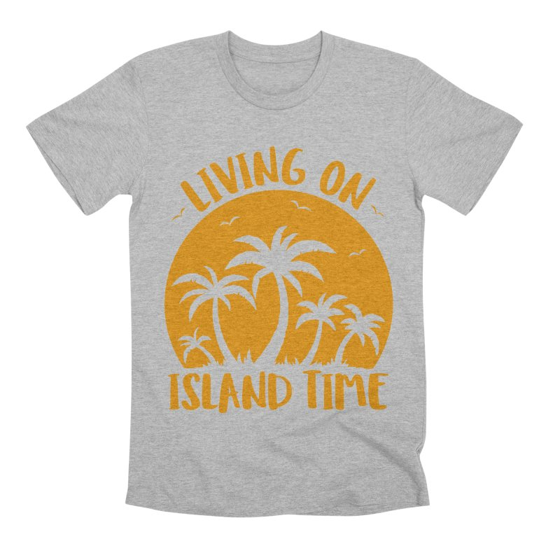 Living On Island Time Palm Trees And Sunset Men's Premium T-Shirt by Fizzgig's Artist Shop