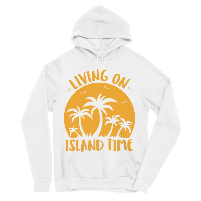 Living On Island Time Palm Trees And Sunset Women's Sponge Fleece Pullover Hoody by Fizzgig's Artist Shop