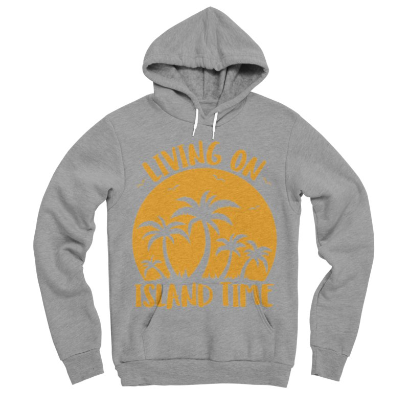 Living On Island Time Palm Trees And Sunset Men's Sponge Fleece Pullover Hoody by Fizzgig's Artist Shop