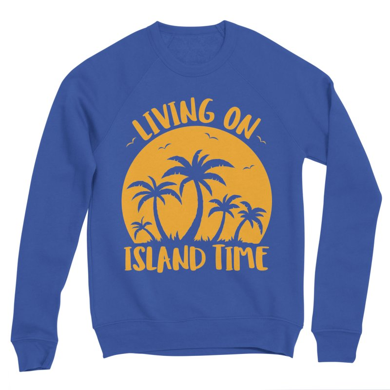 Living On Island Time Palm Trees And Sunset Men's Sponge Fleece Sweatshirt by Fizzgig's Artist Shop
