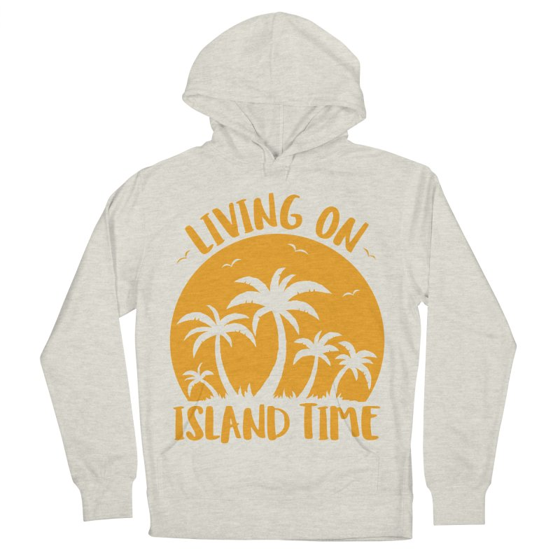 Living On Island Time Palm Trees And Sunset Women's French Terry Pullover Hoody by Fizzgig's Artist Shop
