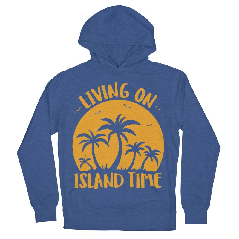 Living On Island Time Palm Trees And Sunset Men's French Terry Pullover Hoody by Fizzgig's Artist Shop