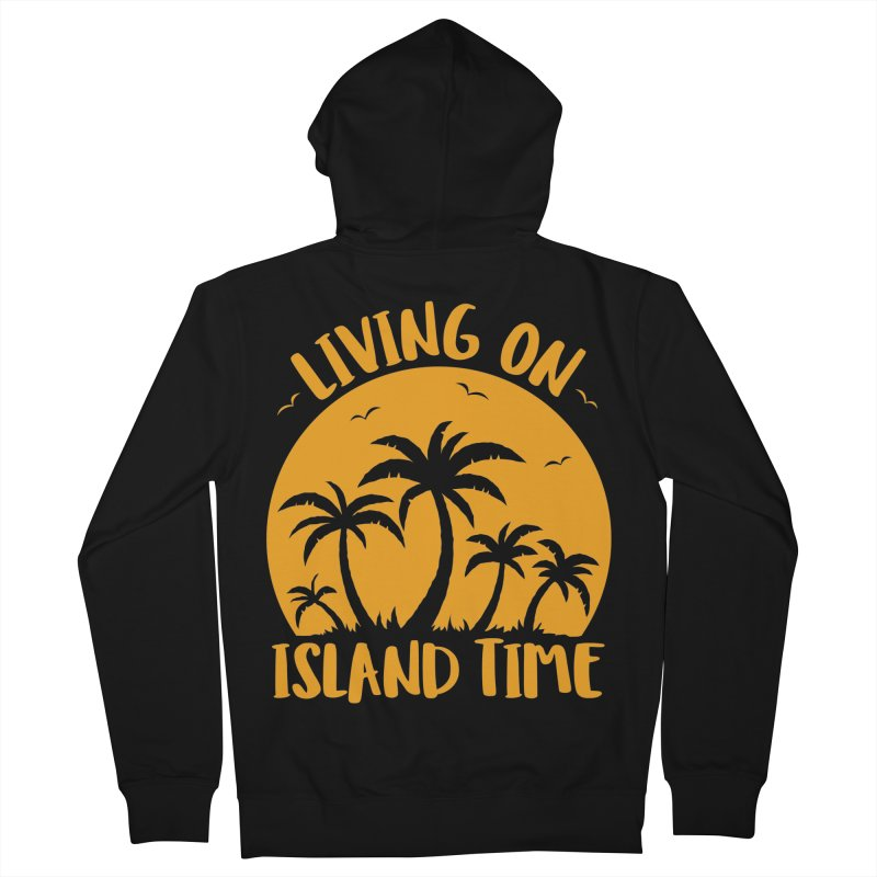 Living On Island Time Palm Trees And Sunset Women's French Terry Zip-Up Hoody by Fizzgig's Artist Shop