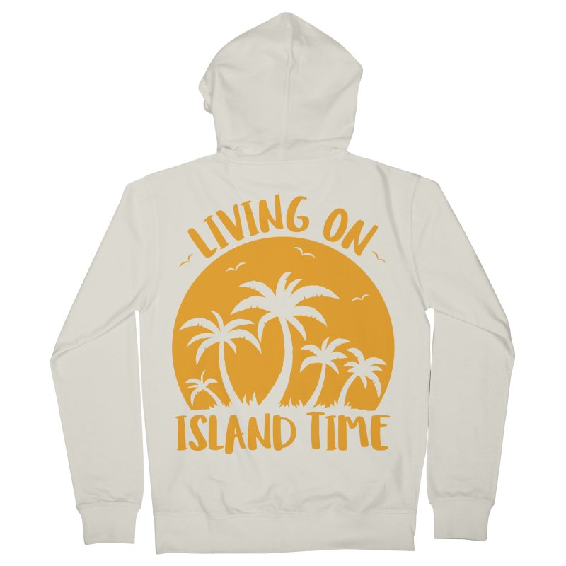 Living On Island Time Palm Trees And Sunset Men's French Terry Zip-Up Hoody by Fizzgig's Artist Shop