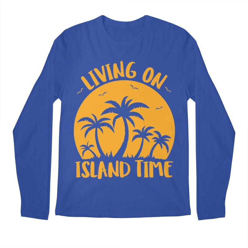 Living On Island Time Palm Trees And Sunset Men's Regular Longsleeve T-Shirt by Fizzgig's Artist Shop
