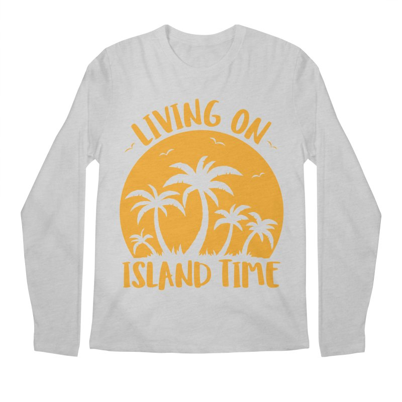 Living On Island Time Palm Trees And Sunset Men's Regular Longsleeve T-Shirt by Fizzgig's Artist Shop