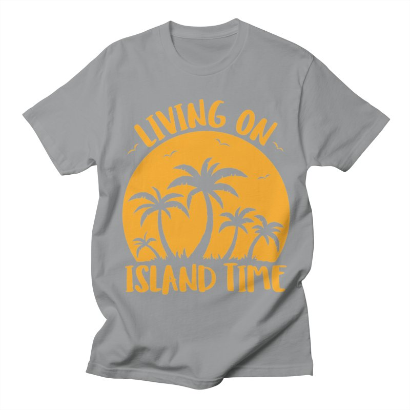 Living On Island Time Palm Trees And Sunset Women's Regular Unisex T-Shirt by Fizzgig's Artist Shop