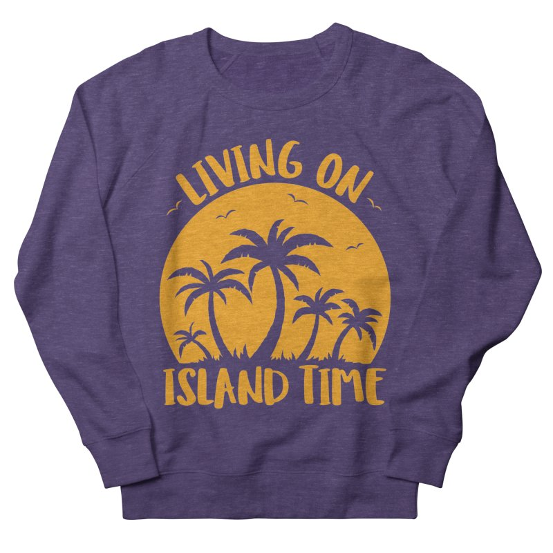 Living On Island Time Palm Trees And Sunset Men's French Terry Sweatshirt by Fizzgig's Artist Shop