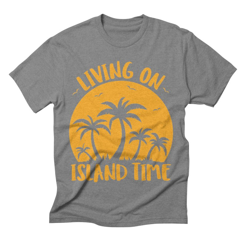 Living On Island Time Palm Trees And Sunset Men's Triblend T-Shirt by Fizzgig's Artist Shop