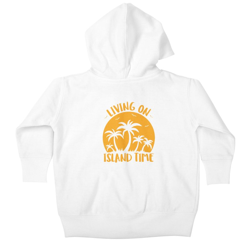 Living On Island Time Palm Trees And Sunset Kids Baby Zip-Up Hoody by Fizzgig's Artist Shop
