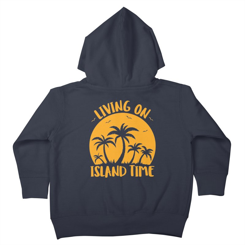 Living On Island Time Palm Trees And Sunset Kids Toddler Zip-Up Hoody by Fizzgig's Artist Shop