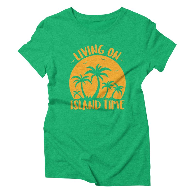Living On Island Time Palm Trees And Sunset Women's Triblend T-Shirt by Fizzgig's Artist Shop