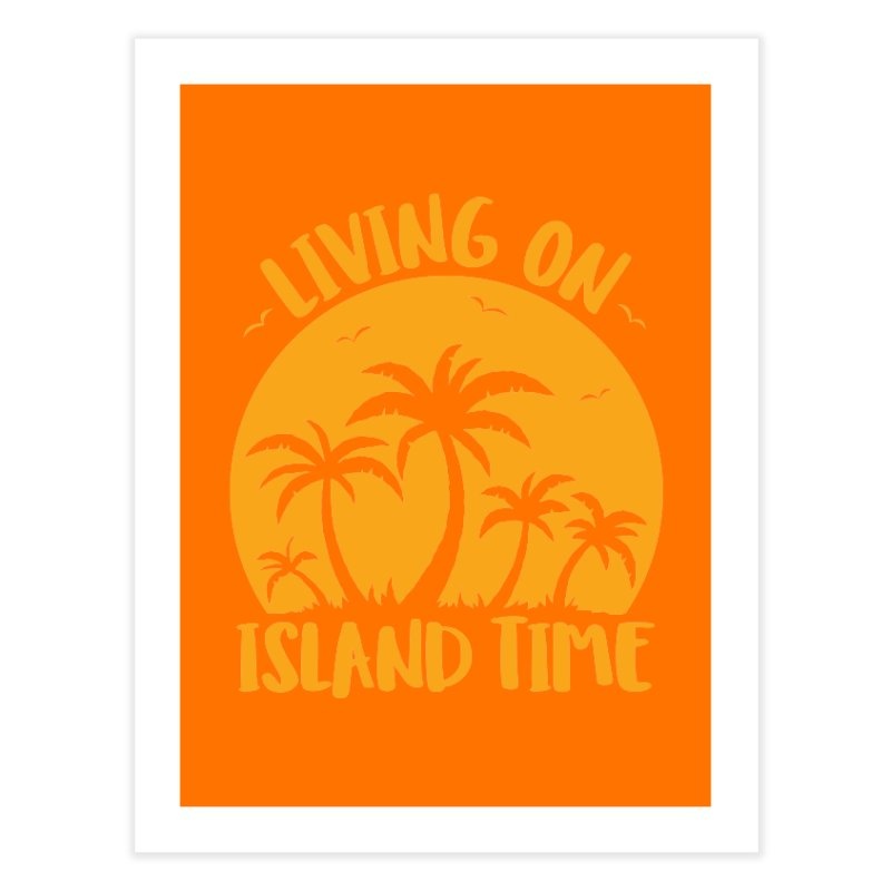 Living On Island Time Palm Trees And Sunset Home Fine Art Print by Fizzgig's Artist Shop