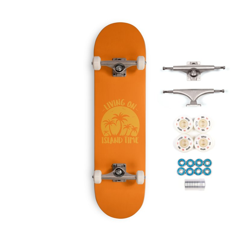 Living On Island Time Palm Trees And Sunset Accessories Complete - Premium Skateboard by Fizzgig's Artist Shop