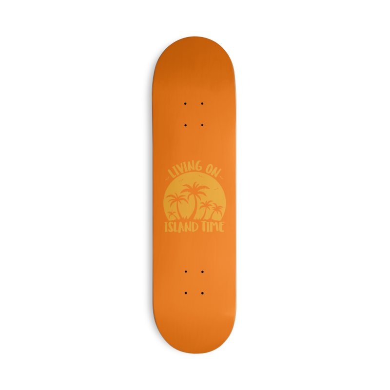 Living On Island Time Palm Trees And Sunset Accessories Deck Only Skateboard by Fizzgig's Artist Shop