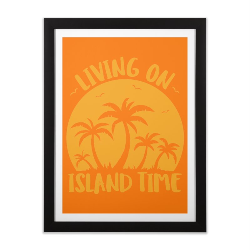 Living On Island Time Palm Trees And Sunset Home Framed Fine Art Print by Fizzgig's Artist Shop