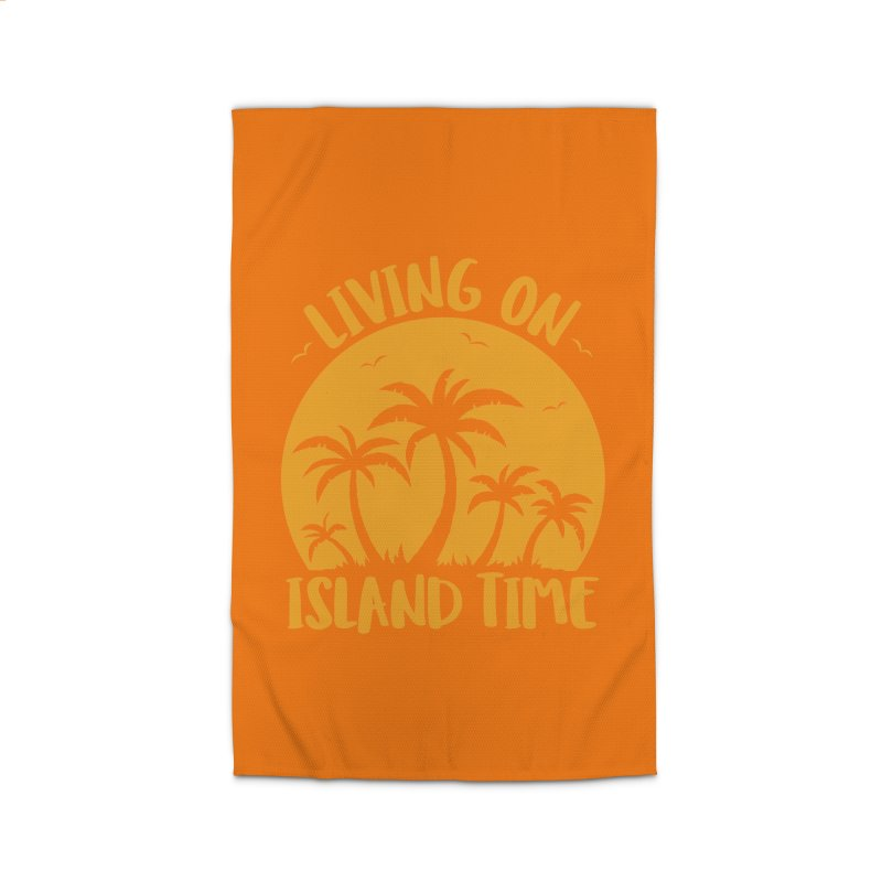 Living On Island Time Palm Trees And Sunset Home Rug by Fizzgig's Artist Shop