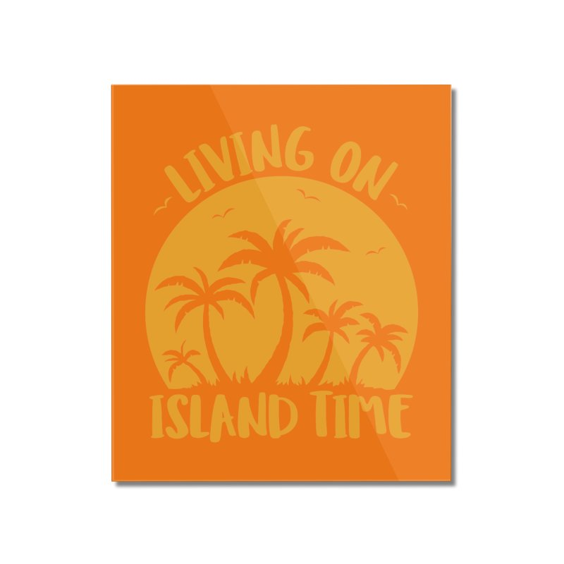 Living On Island Time Palm Trees And Sunset Home Mounted Acrylic Print by Fizzgig's Artist Shop