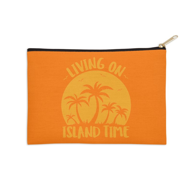 Living On Island Time Palm Trees And Sunset Accessories Zip Pouch by Fizzgig's Artist Shop