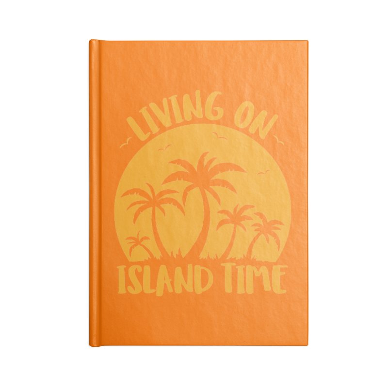 Living On Island Time Palm Trees And Sunset Accessories Lined Journal Notebook by Fizzgig's Artist Shop