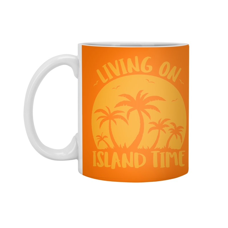 Living On Island Time Palm Trees And Sunset Accessories Standard Mug by Fizzgig's Artist Shop