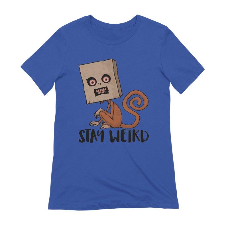 Stay Weird Sack Monkey Women's Extra Soft T-Shirt by Fizzgig's Artist Shop