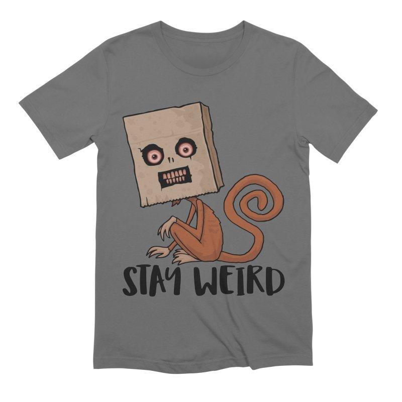 Stay Weird Sack Monkey Men's Extra Soft T-Shirt by Fizzgig's Artist Shop