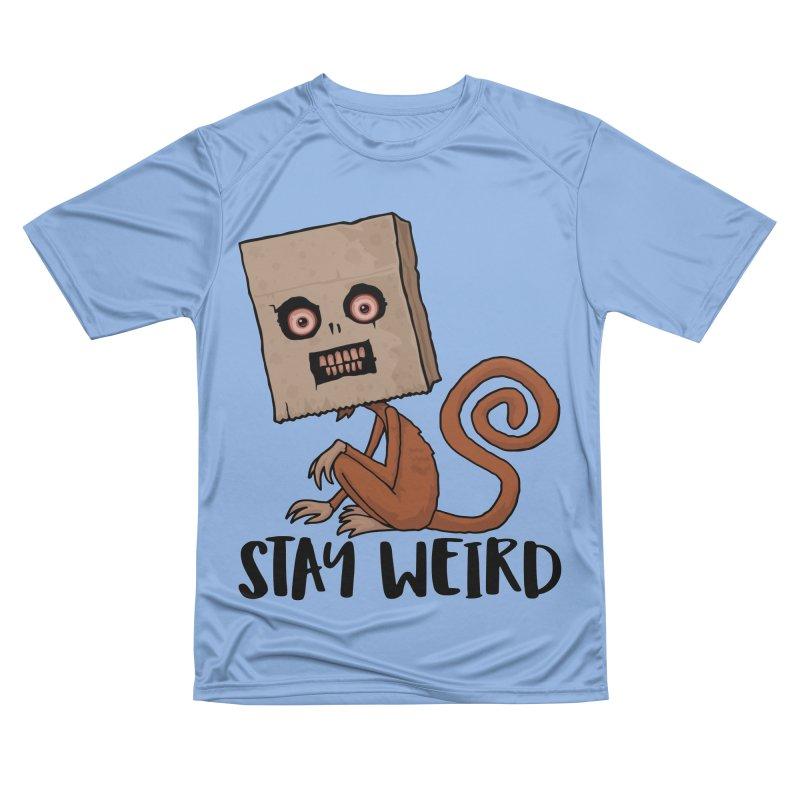 Stay Weird Sack Monkey Men's Performance T-Shirt by Fizzgig's Artist Shop