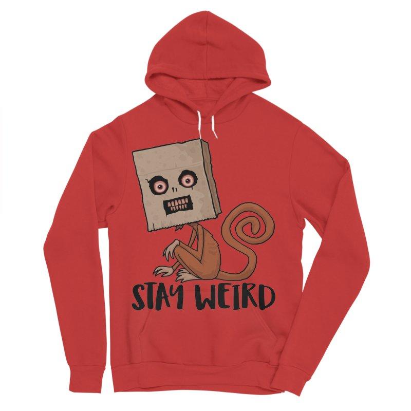 Stay Weird Sack Monkey Men's Sponge Fleece Pullover Hoody by Fizzgig's Artist Shop