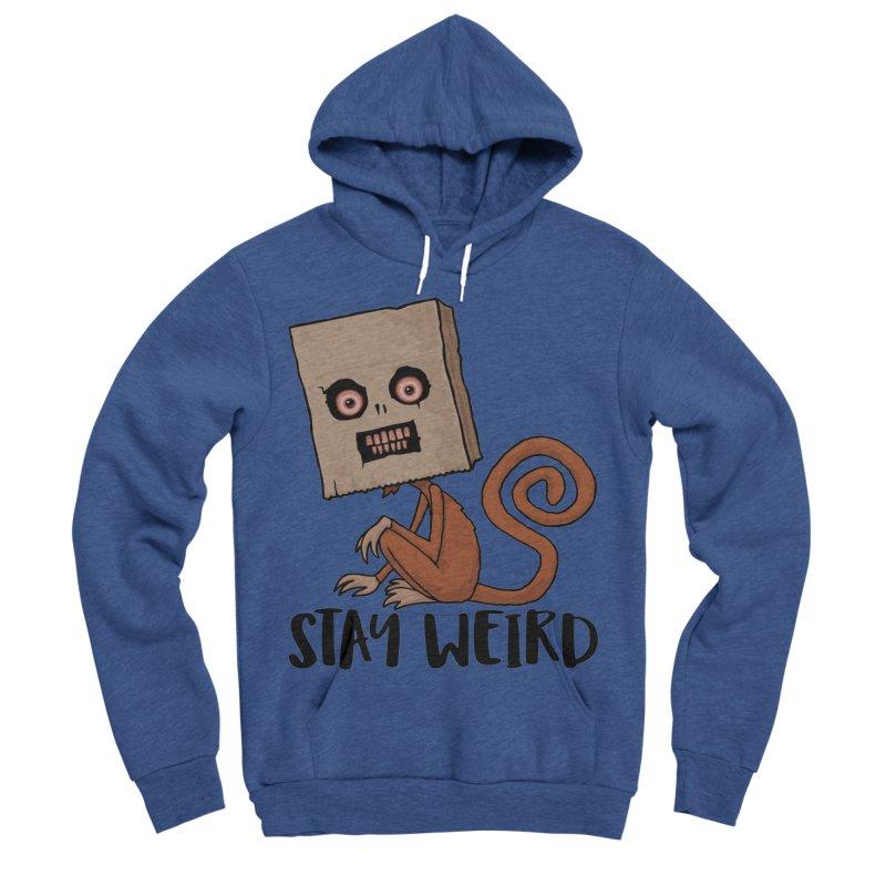 Stay Weird Sack Monkey Women's Sponge Fleece Pullover Hoody by Fizzgig's Artist Shop