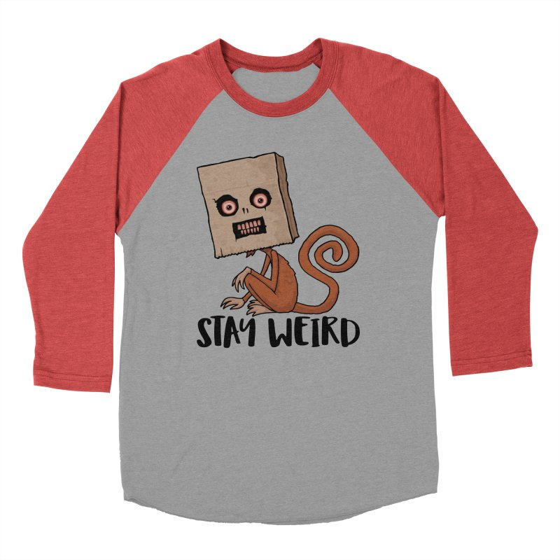 Stay Weird Sack Monkey Men's Longsleeve T-Shirt by Fizzgig's Artist Shop