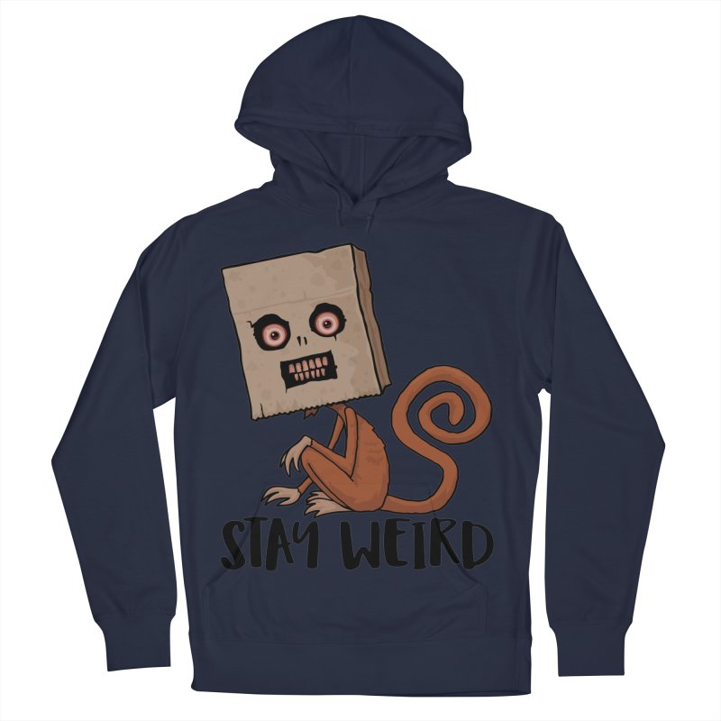 Stay Weird Sack Monkey Men's French Terry Pullover Hoody by Fizzgig's Artist Shop