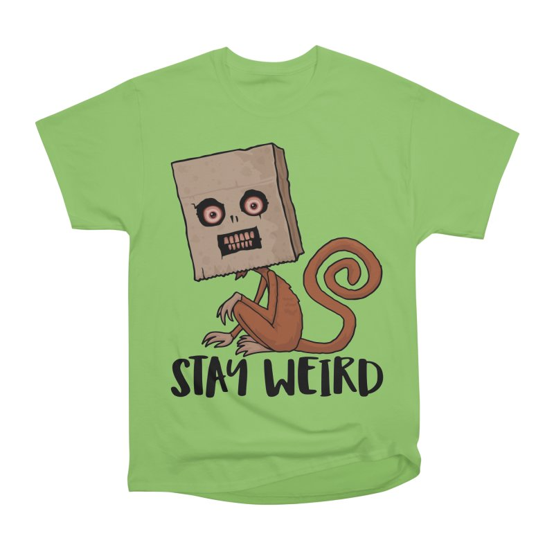 Stay Weird Sack Monkey Women's Heavyweight Unisex T-Shirt by Fizzgig's Artist Shop