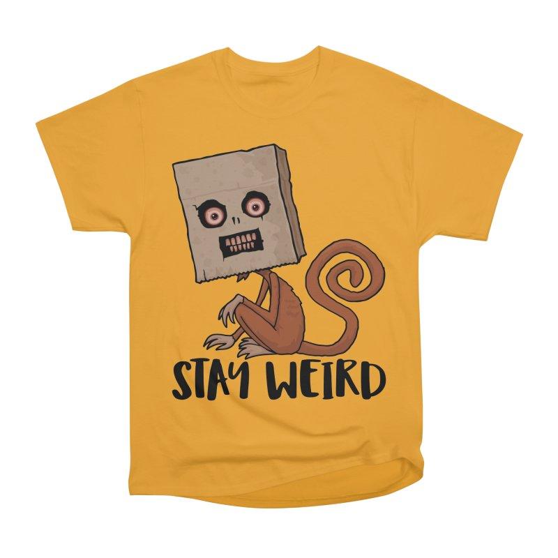 Stay Weird Sack Monkey Men's Heavyweight T-Shirt by Fizzgig's Artist Shop