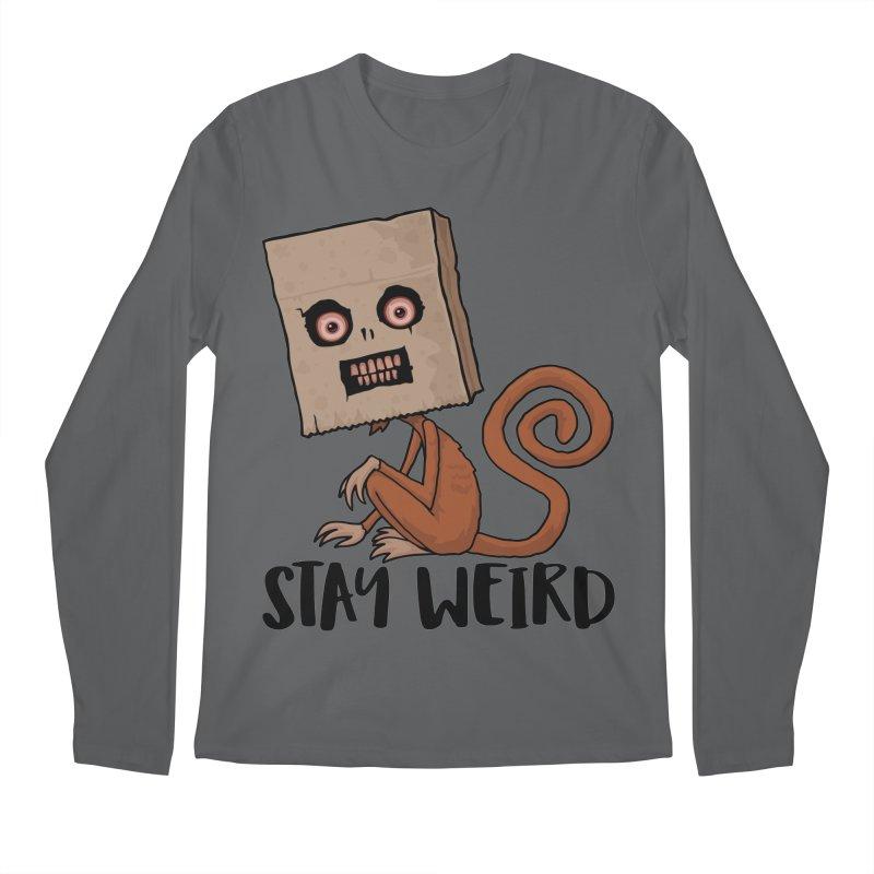 Stay Weird Sack Monkey Men's Longsleeve T-Shirt by Fizzgig's Artist Shop