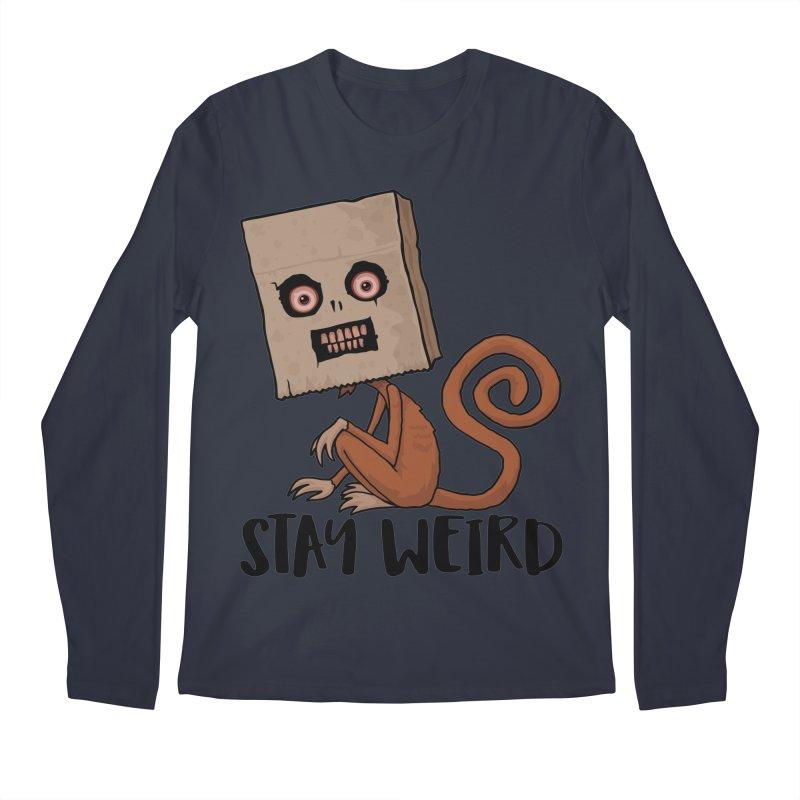 Stay Weird Sack Monkey Men's Regular Longsleeve T-Shirt by Fizzgig's Artist Shop