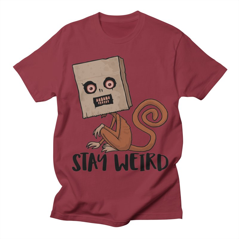 Stay Weird Sack Monkey Men's Regular T-Shirt by Fizzgig's Artist Shop