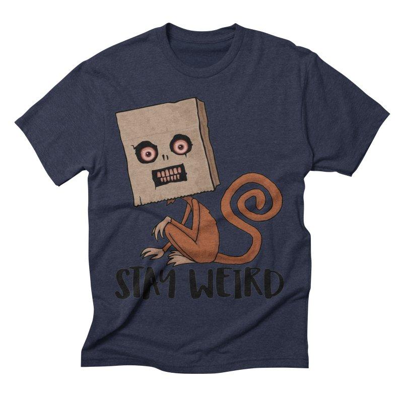Stay Weird Sack Monkey Men's Triblend T-Shirt by Fizzgig's Artist Shop