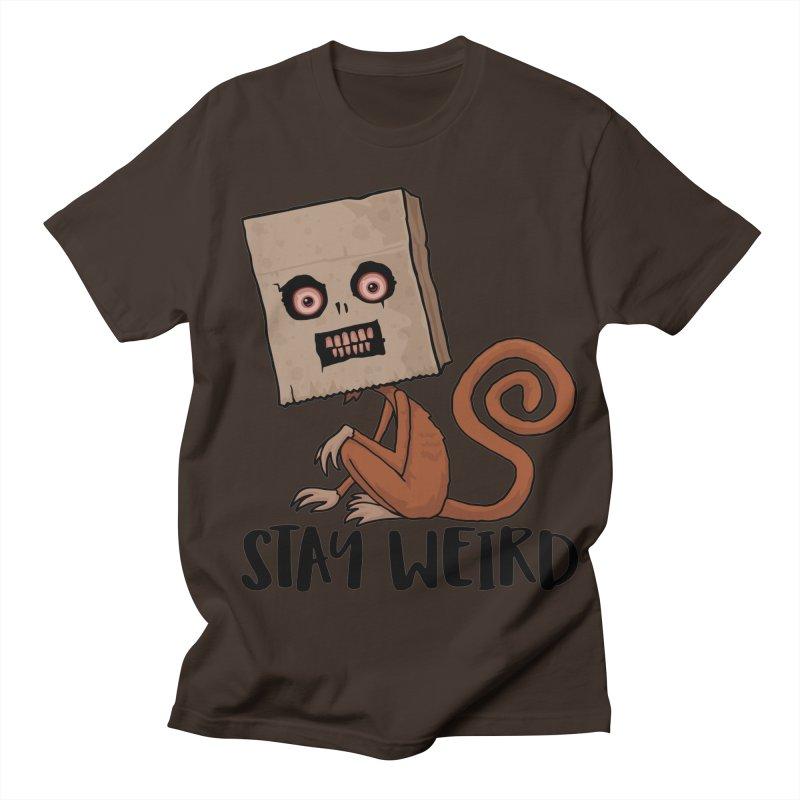 Stay Weird Sack Monkey Men's Regular T-Shirt by Fizzgig's Artist Shop