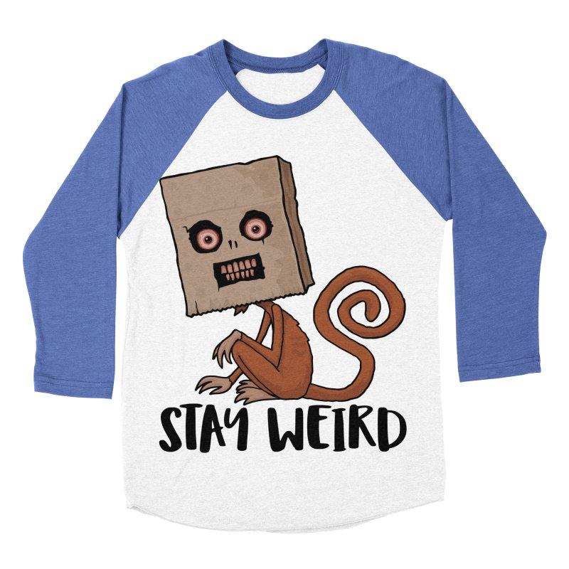 Stay Weird Sack Monkey Women's Baseball Triblend Longsleeve T-Shirt by Fizzgig's Artist Shop