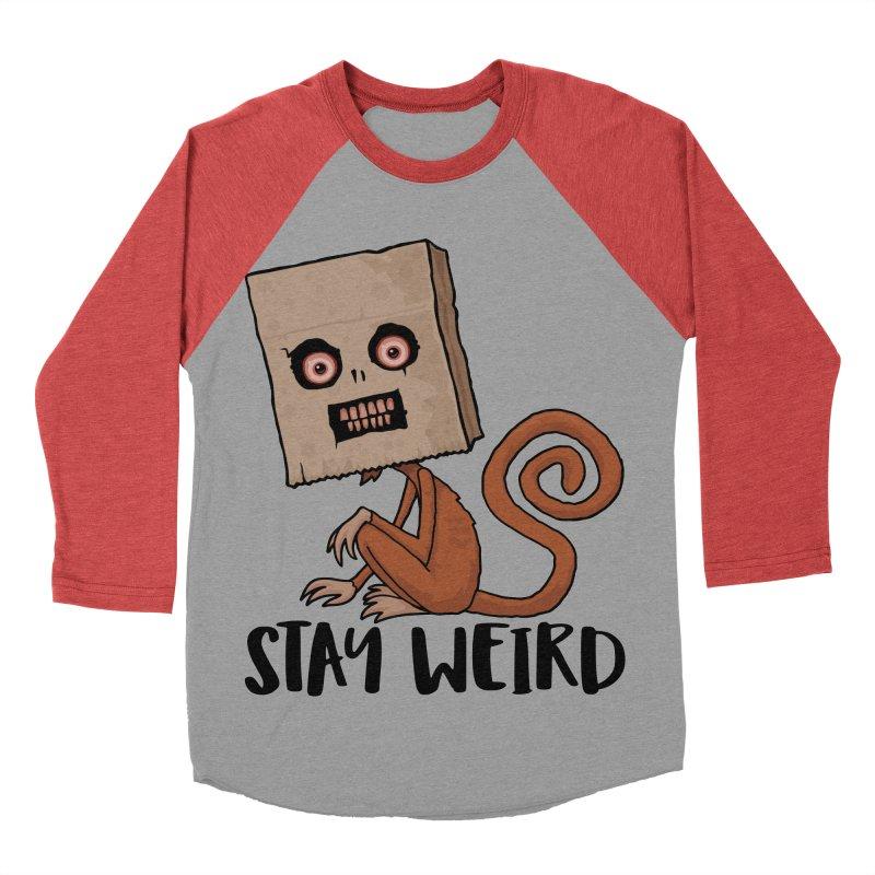 Stay Weird Sack Monkey Men's Baseball Triblend Longsleeve T-Shirt by Fizzgig's Artist Shop