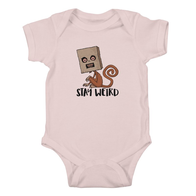 Stay Weird Sack Monkey Kids Baby Bodysuit by Fizzgig's Artist Shop