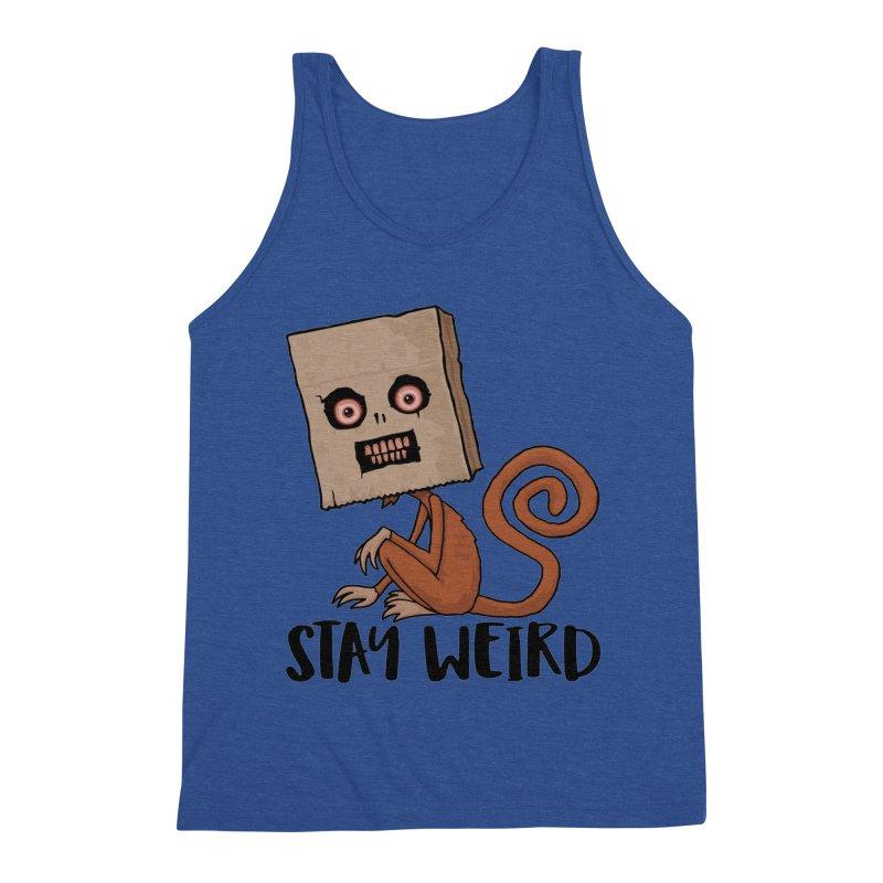 Stay Weird Sack Monkey Men's Tank by Fizzgig's Artist Shop