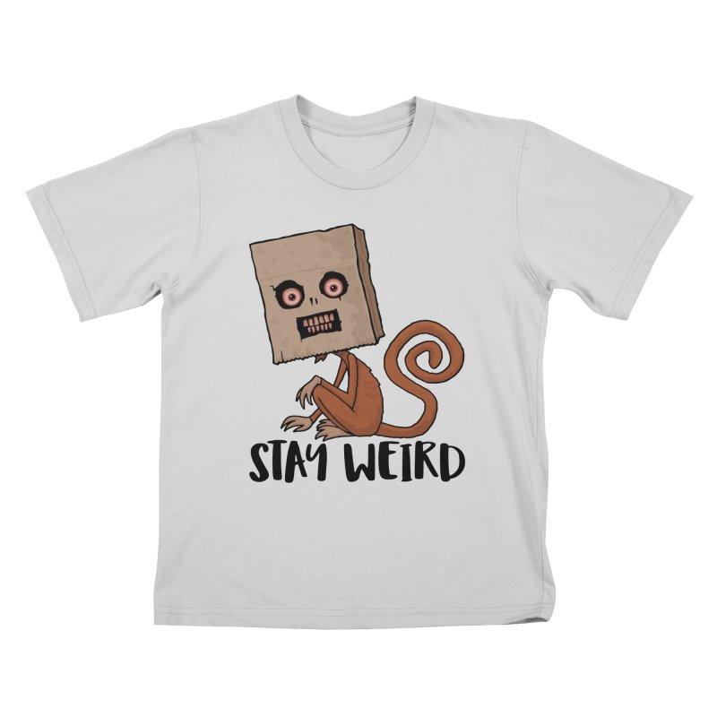 Stay Weird Sack Monkey Kids T-Shirt by Fizzgig's Artist Shop