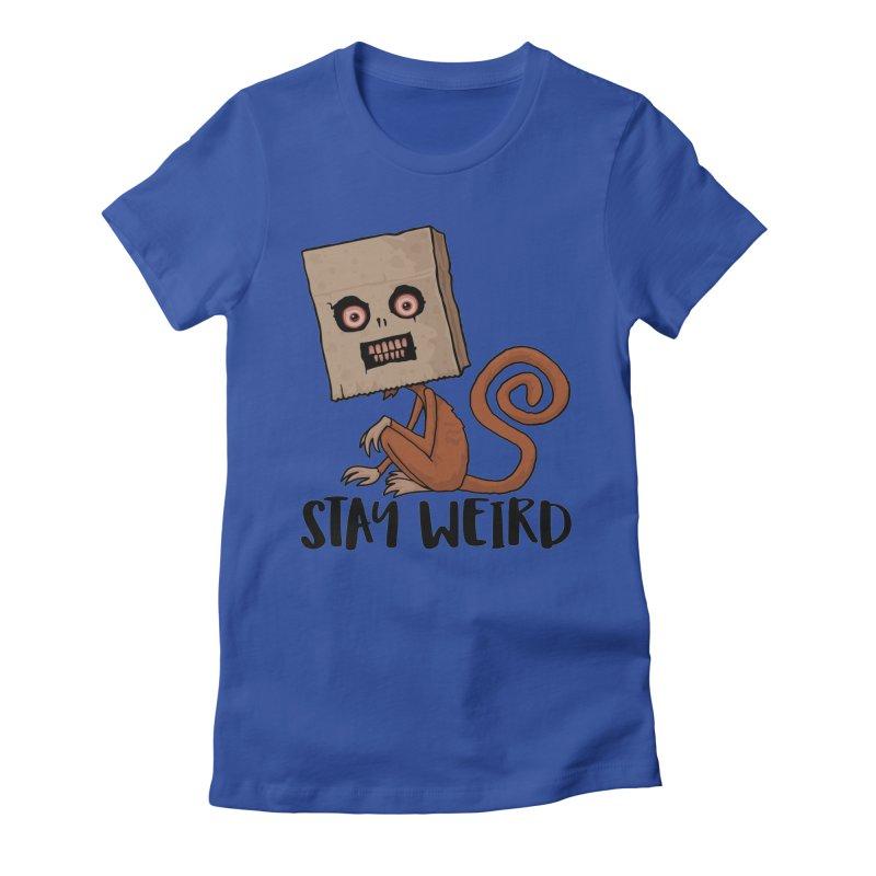 Stay Weird Sack Monkey Women's Fitted T-Shirt by Fizzgig's Artist Shop