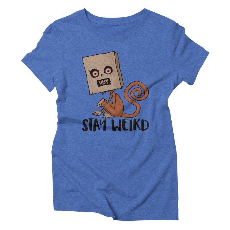 Stay Weird Sack Monkey Women's Triblend T-Shirt by Fizzgig's Artist Shop