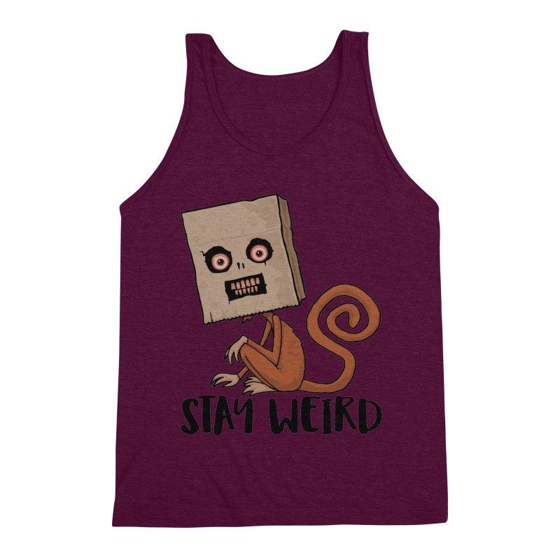 Stay Weird Sack Monkey Men's Triblend Tank by Fizzgig's Artist Shop