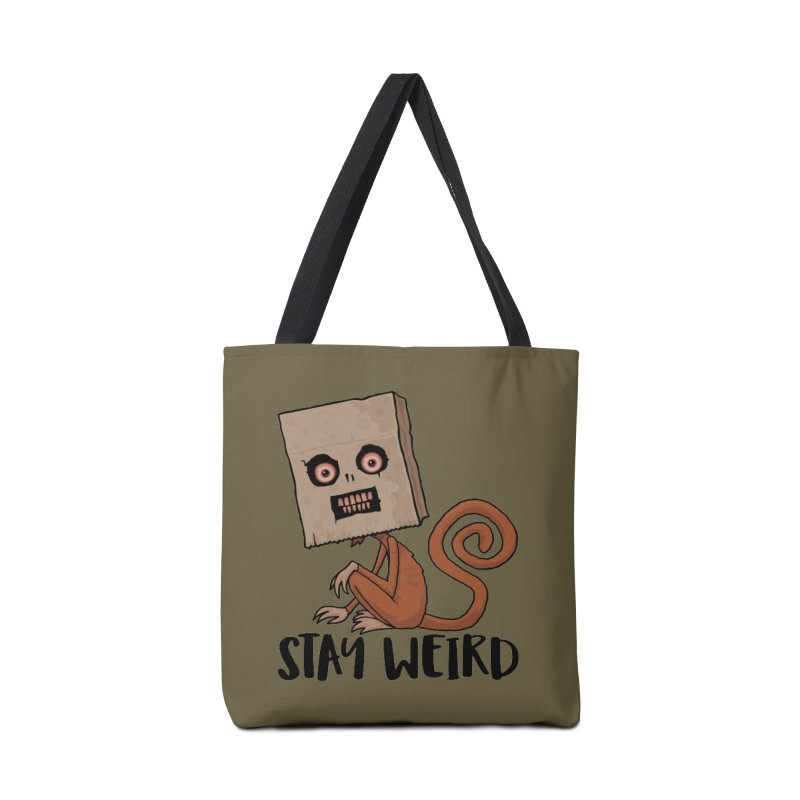 Stay Weird Sack Monkey Accessories Tote Bag Bag by Fizzgig's Artist Shop